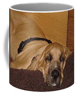 Dog Tired Coffee Mug by Val Oconnor