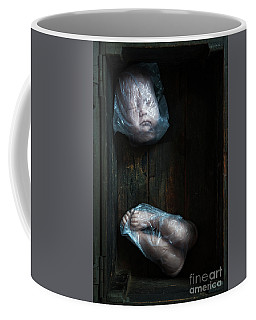 Doll Parts In Plastic Bags Coffee Mug by Lee Avison