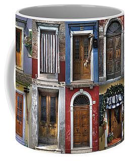 doors and windows of Burano - Venice Coffee Mug