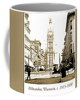 Downtown Milwaukee, C. 1915-1920, Vintage Photograph Coffee Mug