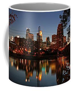 Downtown Minneapolis At Night Coffee Mug