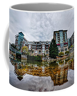 Downtown Of Greenville South Carolina Around Falls Park Coffee Mug