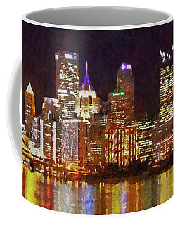 Downtown Pittsburgh On A Light Up Night Coffee Mug