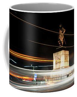 Drake's Statue Traffic Trails Iv Coffee Mug