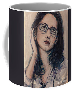 Coffee Mug featuring the painting Dreaming With Open Eyes by Olimpia - Hinamatsuri Barbu