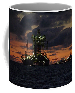 Drill Rig At Dusk Coffee Mug