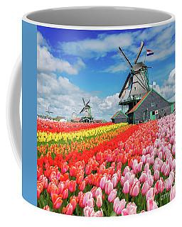 Dutch Windmills Coffee Mug by Anastasy Yarmolovich