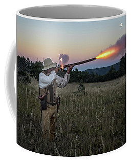 Early 1800's Flintlock Muzzleloader Blast Coffee Mug by Nadja Rider