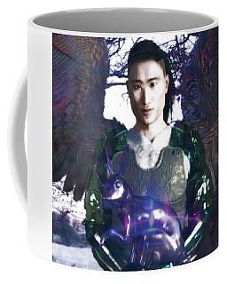 Coffee Mug featuring the digital art Easter Angel 5 by Suzanne Silvir