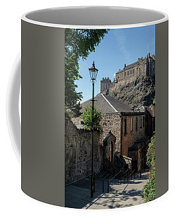 Coffee Mug featuring the photograph Edinburgh Castle In Scotland by Jeremy Lavender Photography