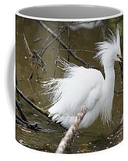 Egret Bath Coffee Mug