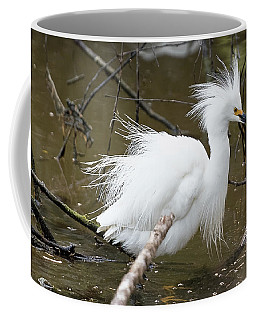 Egret Bath Coffee Mug