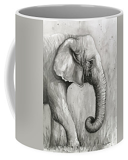 Elephant Watercolor Coffee Mug