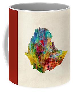 Ethiopia Watercolor Map Coffee Mug