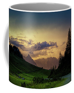 Evening In The Alps Coffee Mug