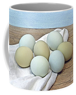 Exotic Colored Chicken Eggs Coffee Mug by Pattie Calfy
