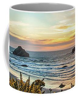 Face Rock At Sunset Coffee Mug