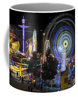 Coffee Mug featuring the photograph Fairground Attraction Panorama by Ray Warren
