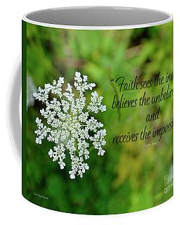 Faith Sees Coffee Mug