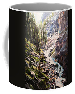 Falls Below Rimrock Lake Coffee Mug