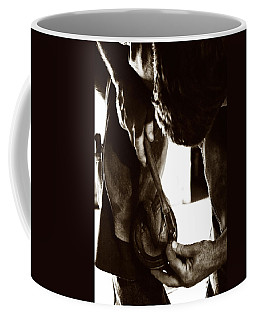 Coffee Mug featuring the photograph Farrier At Work by Angela Rath
