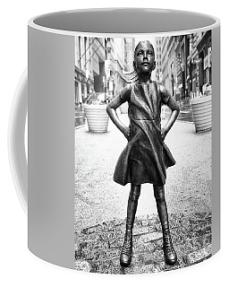 Fearless Girl Bnw Coffee Mug