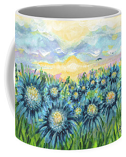 Field Of Blue Flowers Coffee Mug