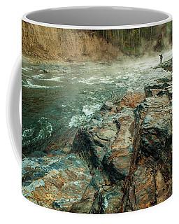 Coffee Mug featuring the photograph Fishing Day by Iris Greenwell