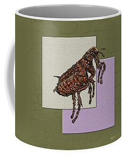 Flea On Abstract Beige Lavender And Dark Khaki Coffee Mug