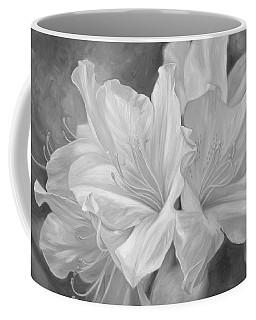 Fleurs Blanches - Black And White Coffee Mug