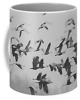 Flight Of The Sandhill Cranes Coffee Mug