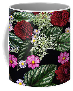 Coffee Mug featuring the photograph Floating Flower Bouquet by Byron Varvarigos