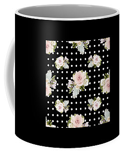 Floral Rose Cluster W Dot Bedding Home Decor Art Coffee Mug