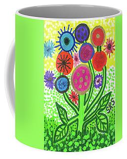 Flowers In The Round 9.7 Coffee Mug
