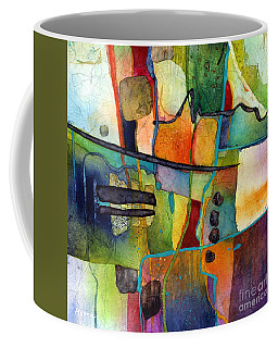 Coffee Mug featuring the painting Fluvial  Mosaic by Hailey E Herrera