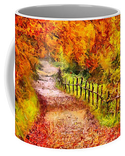 Fall Foliage Path 2 Coffee Mug by Caito Junqueira