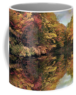 Coffee Mug featuring the photograph Foliage Reflections by Jessica Jenney