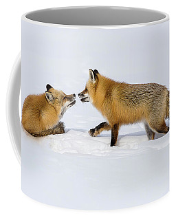 Fox Love Coffee Mug by Brenda Jacobs