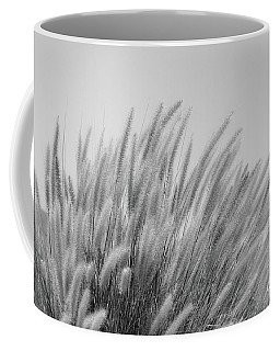 Foxtails On A Hill In Black And White Coffee Mug
