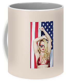 Coffee Mug featuring the photograph American Beauty - No8788 by Amyn Nasser