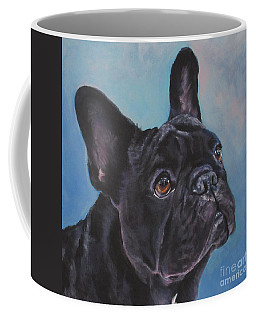 Coffee Mug featuring the painting French Bulldog by Lee Ann Shepard