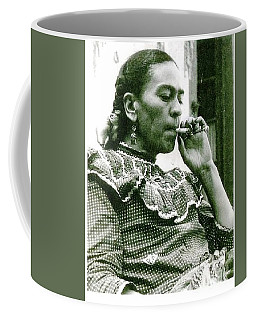 Coffee Mug featuring the painting Frida Kahlo by Pg Reproductions