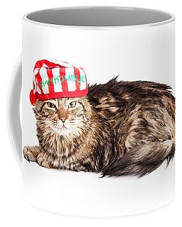 Funny Grumpy Christmas Cat Coffee Mug