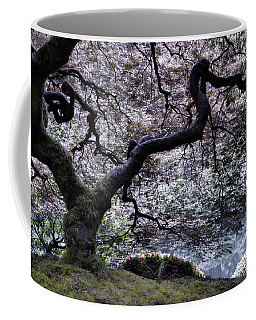 Garden View In Blue Coffee Mug