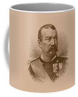 Coffee Mug featuring the drawing General Philip Sheridan by War Is Hell Store