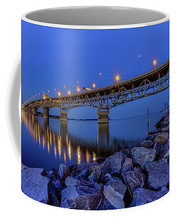 Coffee Mug featuring the photograph George P. Coleman Bridge by Jerry Gammon