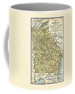 Georgia Antique Map 1891 Coffee Mug
