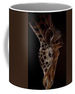 Coffee Mug featuring the drawing Giraffe by Heidi Kriel