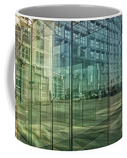 Coffee Mug featuring the photograph Glass Panels At Le Grande Arche by Patricia Hofmeester