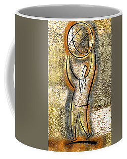 Coffee Mug featuring the painting Globalization  by Leon Zernitsky